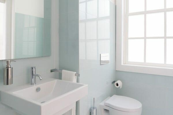 Small bathroom with sleek design