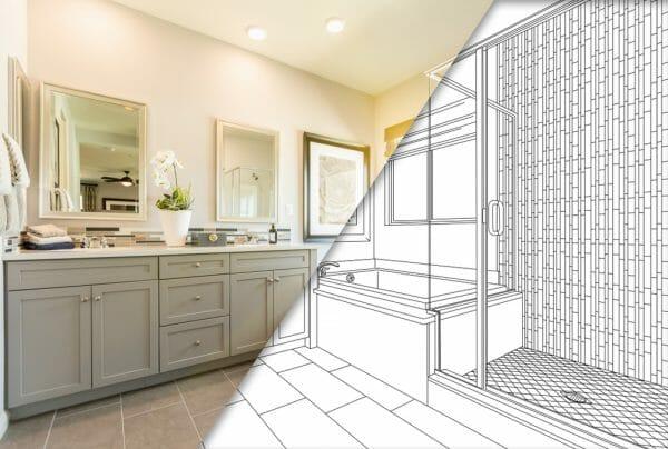 bathroom renovation blueprints